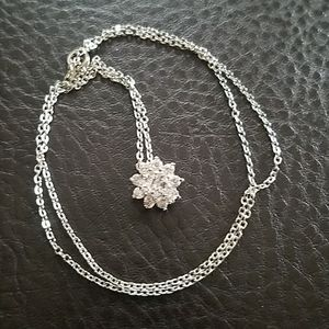 Necklace with cz star pendant